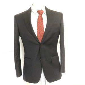 Suit Supply Thin Stripe Super 110's Pure Wool Navy